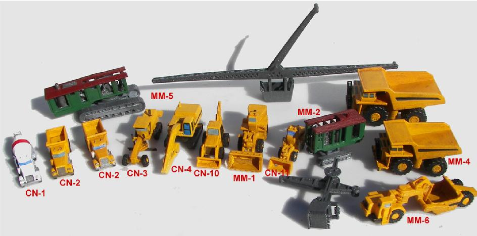 Z SCALE MINING EQUIPMENT
